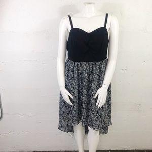 Torrid High Low Black Top Babydoll Dress Plus 3X